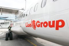 KUALA LUMPUR, MALAYSIA, August 30, 2018: Malindo Airways is part. Of Indonesian Lion Air Group. The name Malindo is derived from the names Malaysia and Royalty Free Stock Photography