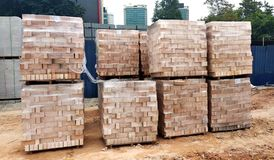 Stock Pile Of Portland Cement In Commercial Bags ...