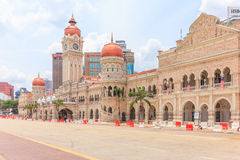 KUALA LUMPUR, MALAYSIA - AUGUST 14, 2016: The Sultan Abdul Samad building is located in front of the Merdeka Square in Jalan Raja, Stock Photo