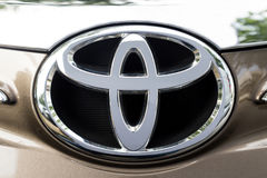 KUALA LUMPUR, MALAYSIA - August 12, 2017: Toyota Motor Corporati. On is a Japanese multinational automotive manufacturer headquartered in Toyota, Aichi, Japan Royalty Free Stock Photo