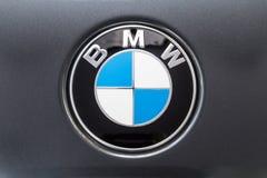 KUALA LUMPUR MALAYSIA - Augusti 12, 2017: BMW eller Bayerische Moto Royaltyfri Bild