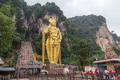 Kuala Lumpur, Malaysia - circa September 2015: Hindu statue at the entrance to Batu Caves complex,  Malaysia Royalty Free Stock Photos