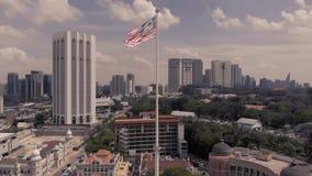 Kuala Lumpur Malaysia 24 de agosto de 2018, torre malasia independiente Kuala Lumpur de la bandera