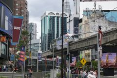 KUALA LUMPUR, MALAYSIA - DECEMBER 31,2017 : Bukit Bintang area is Kuala Lumpur Golden Triangle commercial district. Famous with luxury shopping complex and Royalty Free Stock Images