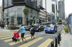 KUALA LUMPUR, MALAYSIA - DECEMBER 31,2017 : Bukit Bintang area is Kuala Lumpur Golden Triangle commercial district.Famous with lux. Ury shopping complex and Royalty Free Stock Photos
