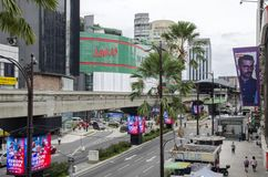 KUALA LUMPUR, MALAYSIA - DECEMBER 31,2017 : Bukit Bintang area is Kuala Lumpur Golden Triangle commercial district.Famous with lux. Ury shopping complex and Stock Photography