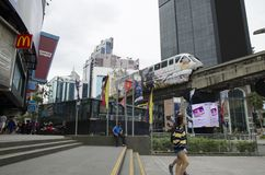 KUALA LUMPUR, MALAYSIA - DECEMBER 31,2017 : Bukit Bintang area is Kuala Lumpur Golden Triangle commercial district.Famous with lux. Ury shopping complex and Stock Image