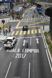 KUALA LUMPUR, MALAYSIA - DECEMBER 31,2017 : Bukit Bintang area is Kuala Lumpur Golden Triangle commercial district. Famous with luxury shopping complex and Stock Photo
