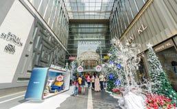 Christmas decoration at the entrance of the Pavilion Kuala Lumpur. royalty free stock photos