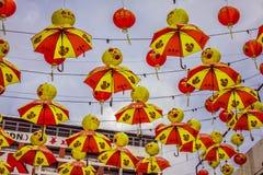 Kuala Lumpur Malaysia, December 18,2013: Kinesisk decorat för nytt år Arkivbild