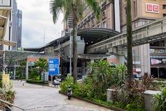 KUALA LUMPUR, MALAYSIA - DECEMBER 31,2017 : KL Monorail station at Berjaya Times Square,The Tallest Shopping Mall in Kuala Lumpur,. Malaysia Stock Image