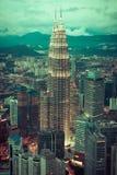 Kuala Lumpur,Malaysia,December 19,2013:KL Petronas Towers at nig Royalty Free Stock Photography