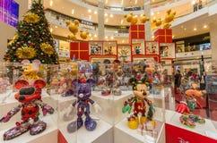 Mickey Mouse`s figurines Christmas decoration in Pavilion Kuala Lumpur stock photos