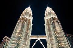 Kuala Lumpur,Malaysia,December 19,2013:The Petronas Towers in Ku Stock Images