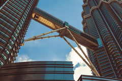 Kuala Lumpur,Malaysia,December 18,2013:Petronas Twin Towers, Kua Royalty Free Stock Photo
