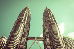 Kuala Lumpur,Malaysia,December 18,2013:Petronas Twin Towers, Kua Royalty Free Stock Image