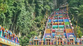 Scenic view of the Batu Caves in Gombak,Malaysia. stock footage