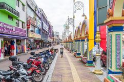 People can seen exploring around Brickfields Little India in Kuala Lumpur Royalty Free Stock Photos