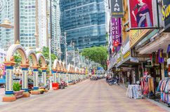 People can seen exploring around Brickfields Little India in Kuala Lumpur Stock Photo