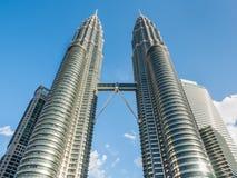 KUALA LUMPUR, MALAYSIA - FEB 29: Petronas Twin Towers the famous Royalty Free Stock Image