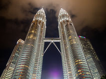 KUALA LUMPUR, MALAYSIA - FEB 29: Petronas Twin Towers the famous Stock Image