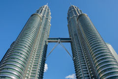 KUALA LUMPUR, MALAYSIA - 29. FEBRUAR: Petronas-Twin Tower im Februar Lizenzfreie Stockfotografie