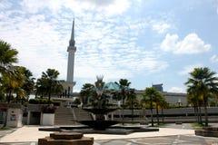 KUALA LUMPUR MALAYSIA - FEBRUARI 01, 2017: Nationell moské av Malaysia i Kuala Lumpur Arkivfoto
