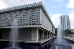 KUALA LUMPUR MALAYSIA - FEBRUARI 01, 2017: Nationell moské av Malaysia i Kuala Lumpur Royaltyfri Foto