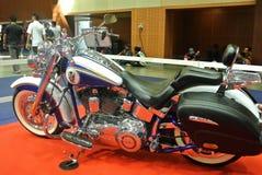Beautiful American`s made Harley-Davidson easy rider & chopper motorcycle. KUALA LUMPUR, MALAYSIA -FEBRUARY 24, 2018: Beautiful American`s made Harley-Davidson stock images