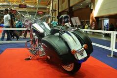 Beautiful American`s made Harley-Davidson easy rider & chopper motorcycle. KUALA LUMPUR, MALAYSIA -FEBRUARY 24, 2018: Beautiful American`s made Harley-Davidson royalty free stock images