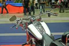 Beautiful American`s made Harley-Davidson easy rider & chopper motorcycle. KUALA LUMPUR, MALAYSIA -FEBRUARY 24, 2018: Beautiful American`s made Harley-Davidson stock photography