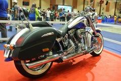 Beautiful American`s made Harley-Davidson easy rider & chopper motorcycle. KUALA LUMPUR, MALAYSIA -FEBRUARY 24, 2018: Beautiful American`s made Harley-Davidson royalty free stock image
