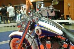 Beautiful American`s made Harley-Davidson easy rider & chopper motorcycle. KUALA LUMPUR, MALAYSIA -FEBRUARY 24, 2018: Beautiful American`s made Harley-Davidson royalty free stock photography