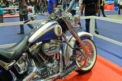 Beautiful American`s made Harley-Davidson easy rider & chopper motorcycle. KUALA LUMPUR, MALAYSIA -FEBRUARY 24, 2018: Beautiful American`s made Harley-Davidson stock photo