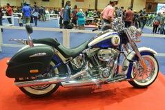 Beautiful American`s made Harley-Davidson easy rider & chopper motorcycle. KUALA LUMPUR, MALAYSIA -FEBRUARY 24, 2018: Beautiful American`s made Harley-Davidson stock image