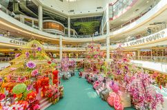 Chinese New Year decoration in Mid Valley Megamall. People can seen exploring and shopping around it. Kuala Lumpur,Malaysia - February 23,2018 : Chinese New Royalty Free Stock Photo