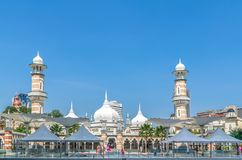 Masjid Jamek mosque which is located at the heart of Kuala Lumpur city.