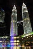 KUALA LUMPUR, MALAYSIA - FEBRUARY 29: Night scene of Petronas tw Royalty Free Stock Image