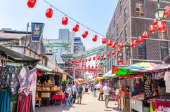 Petaling Street is a china town which is located in Kuala Lumpur,Malaysia.It usually crowded with locals as well as tourists. Royalty Free Stock Photos