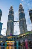 KUALA LUMPUR, MALAYSIA - FEBRUARY 29: Petronas twin towers durin Stock Image