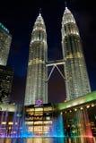 KUALA LUMPUR,MALAYSIA - FEBRUARY 29: Petronas twin towers at nig Stock Photos