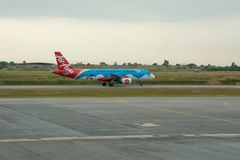 Aircraft Air Asia royalty free stock images
