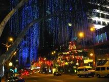 Kuala Lumpur, Malaysia - February 09, 2011: View of the city at night Stock Photography