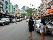 Kuala Lumpur Malaysia Jalan Alor Arkivbild