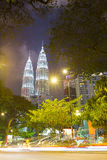 KUALA LUMPUR, MALAYSIA - 15. JANUAR: Petronas-Türme Stockbilder