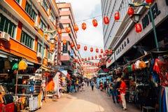 China town old market street in Kuala Lumpur, Malaysia royalty free stock photo