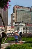 KUALA LUMPUR, MALAYSIA - January16. 2016: Clock tower of Sultan Abdul Samad building near Merdeka Square Stock Photography