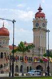 KUALA LUMPUR, MALAYSIA - January16. 2016: Clock tower of Sultan Abdul Samad building near Merdeka Square Royalty Free Stock Photography
