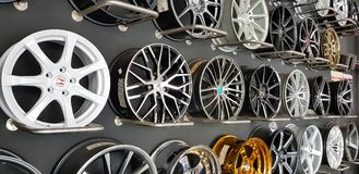 Luxury car rims Royalty Free Stock Images