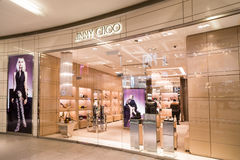 KUALA LUMPUR, MALAYSIA - January 29, 2017: Jimmy Choo is high fashion house specialising in shoes, handbags, accessories and frag royalty free stock photo